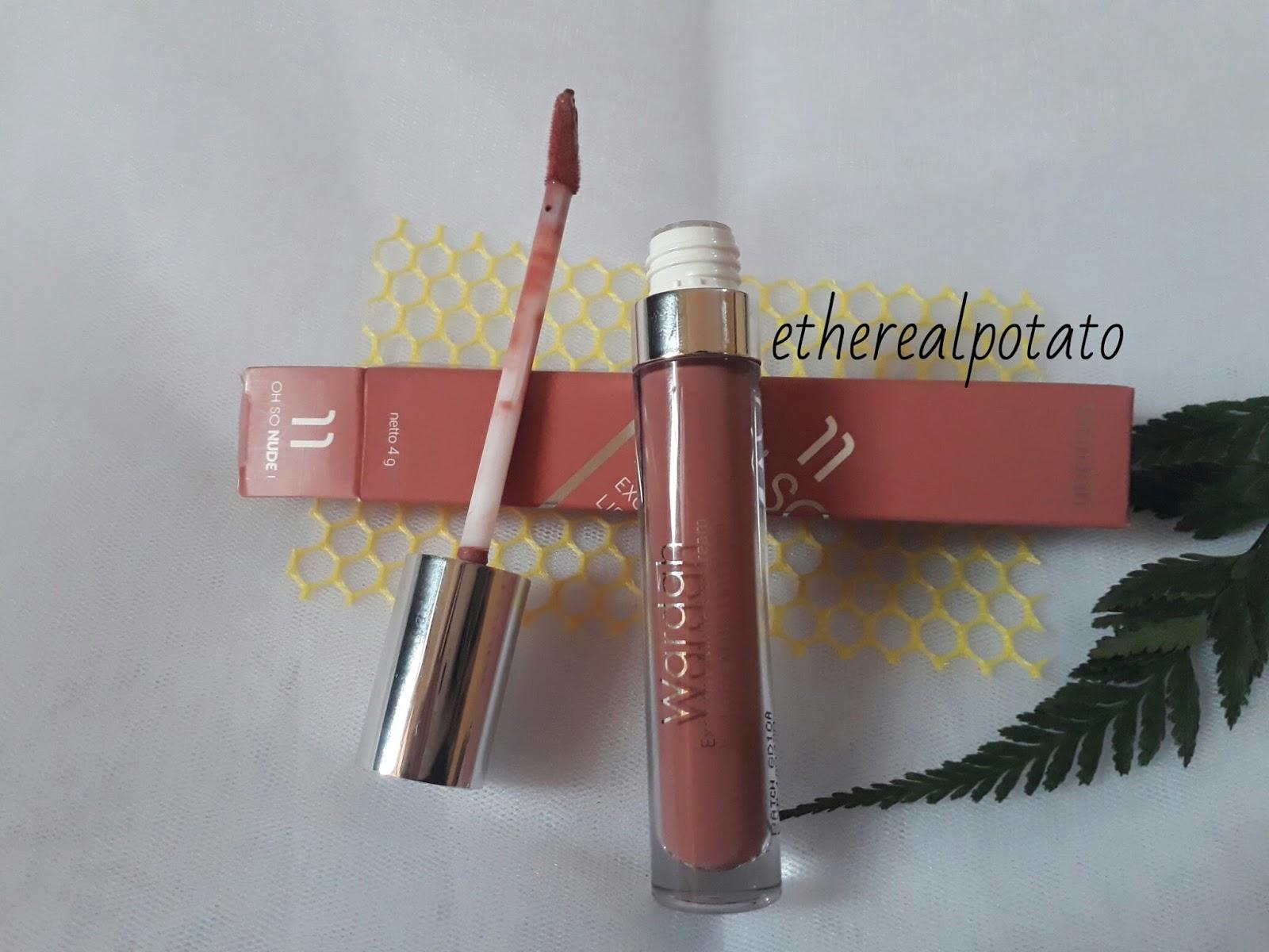 Review Wardah Exclusive Matte Lip Cream 11 Oh So Nude Ethereal Lipstick Pigmentasi Dari Ini Juga Bikin Jatuh Hati Warnanya Strong Dan Intense Banget Sesuai Sama Warna Di Dalam