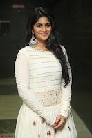 Megha Akash in beautiful White Anarkali Dress at Pre release function of Movie LIE ~ Celebrities Galleries 050.JPG