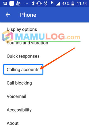 select calling accounts