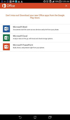 Microsoft Office Mobile v15.0.5430.2000 Cracked APK Terbaru