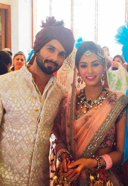 Shahid Kapoor with Mira Rajput Wedding Pictures
