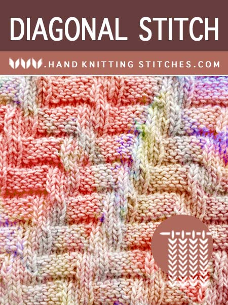 Diagonal #KnitPurl Pattern. This is an easy to knit, beginner-friendly, take-it-on-the-go and easy to customize.
