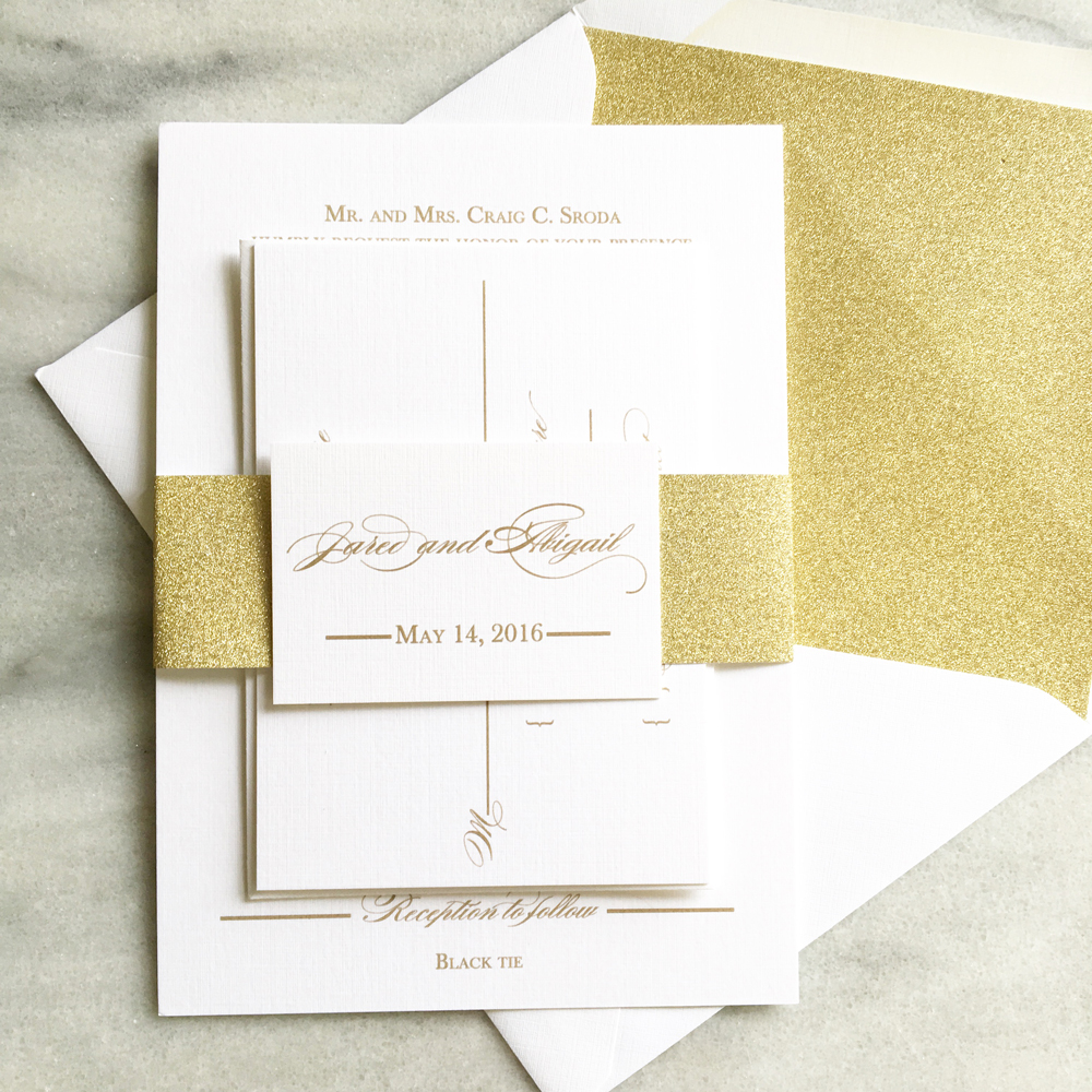 Belly Bands for Wedding Invitations | Blush Paperie