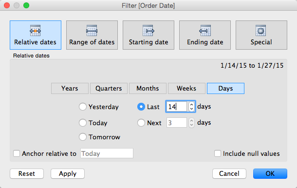 Tableau Tip Tuesday Using A Set To Create A Relative Date Filter