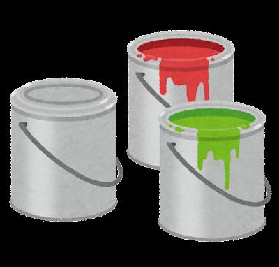 ペンキの入った缶のイラスト