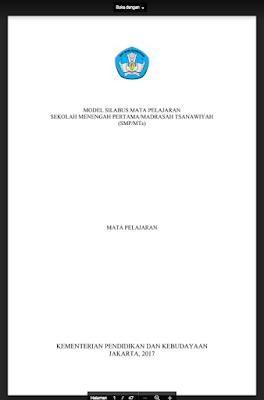 Silabus PJOK SMP/MTS Kurikulum 2013 Revisi 2017