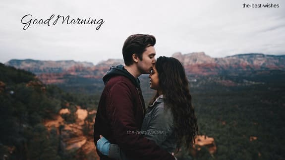 Kiss on forehead Good Morning Images for lover