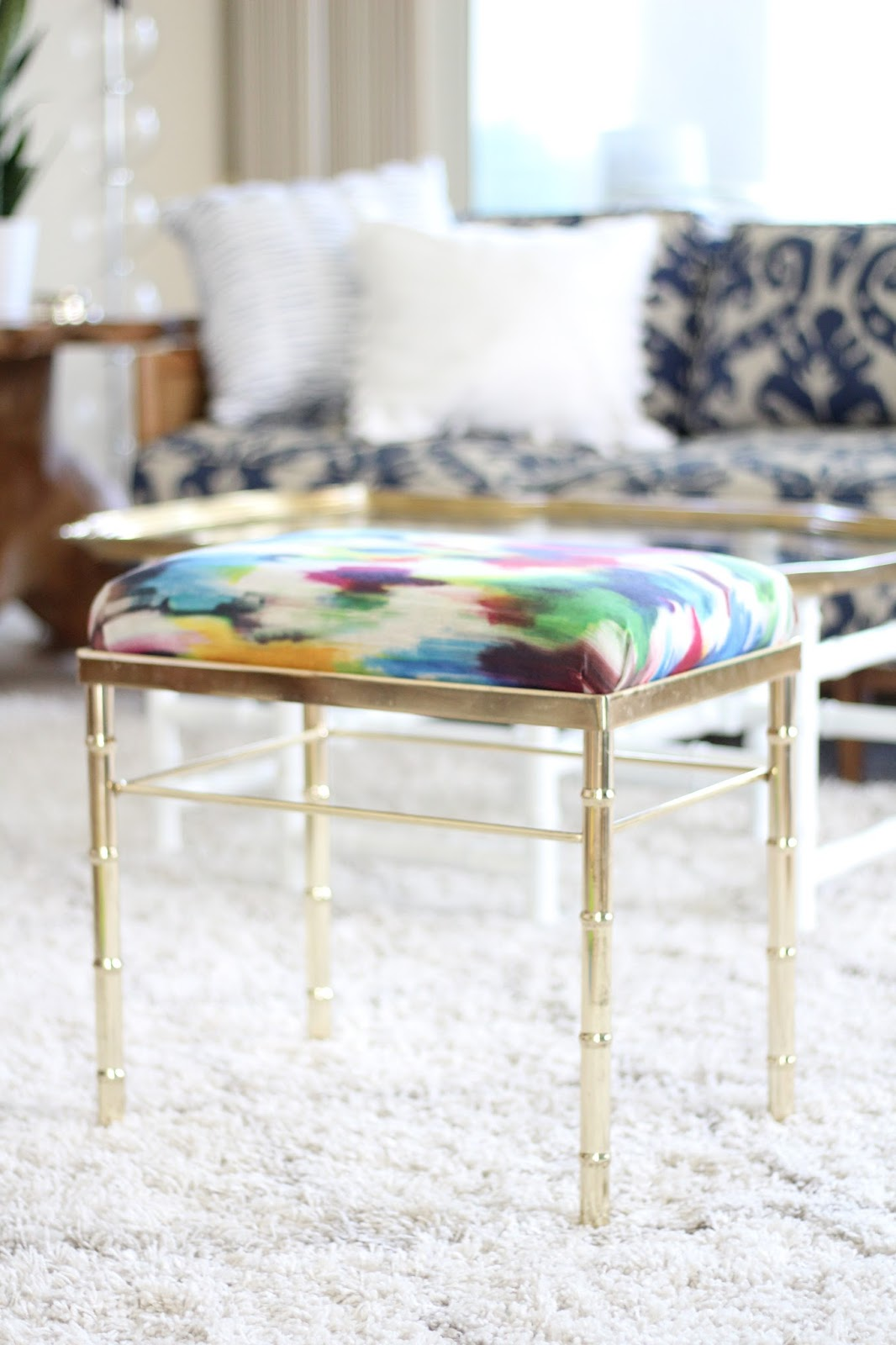 Life With A Dash Of Whimsy Diy Vanity Stool Reupholstery