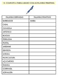 ATIVIDADES PORTUGUÊS 6° ANO SUBSTANTIVOS PARA IMPRIMIR (5ª
