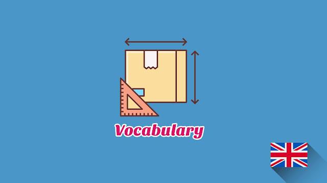 Kosakata Bahasa Inggris Sifat Ukuran Disertai Gambar, Audio Dan Pronunciation