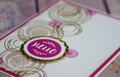 Hello Swirly Bird Card For A Glasgow Team Day made using Stampin' Up! UK supplies available here