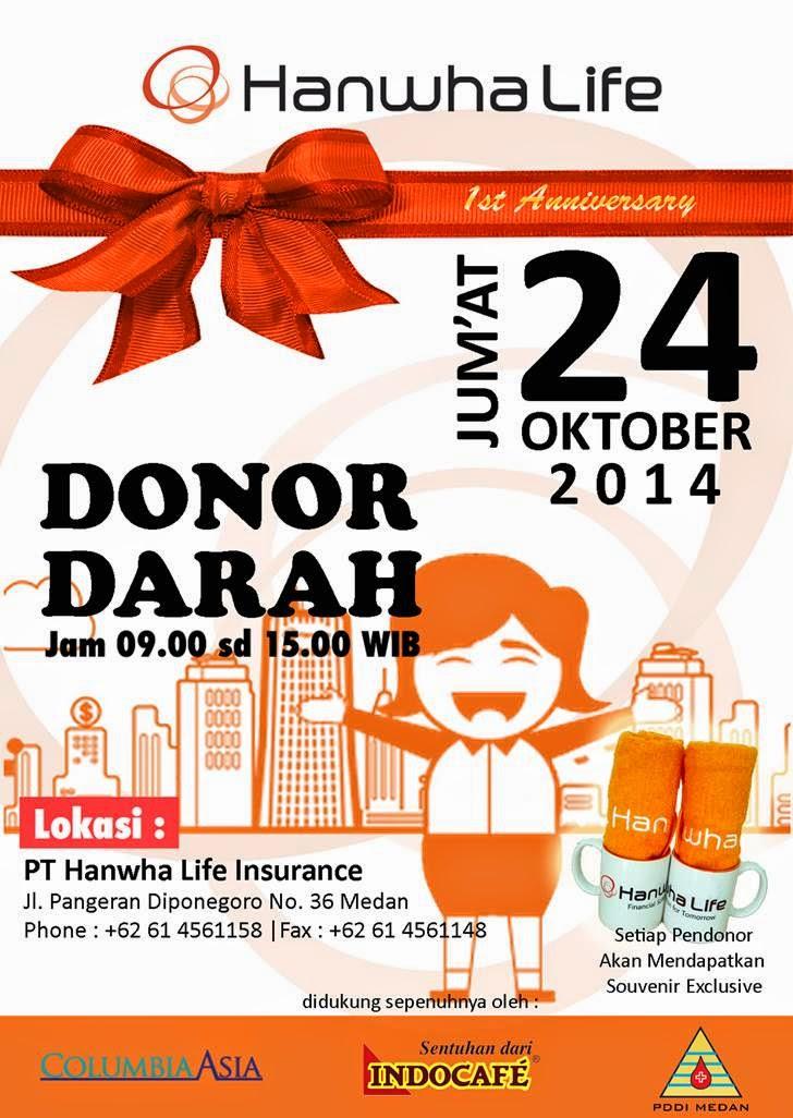 Donor Darah Hanwha Life Medan 24 Oktober 2014