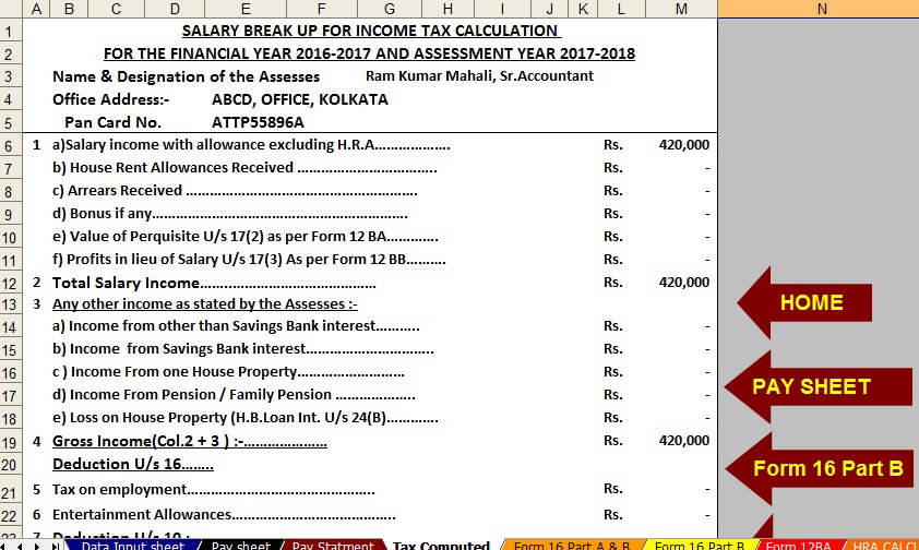 Income Tax Relief Calculation Of Income Tax Relief Under Section 89 1