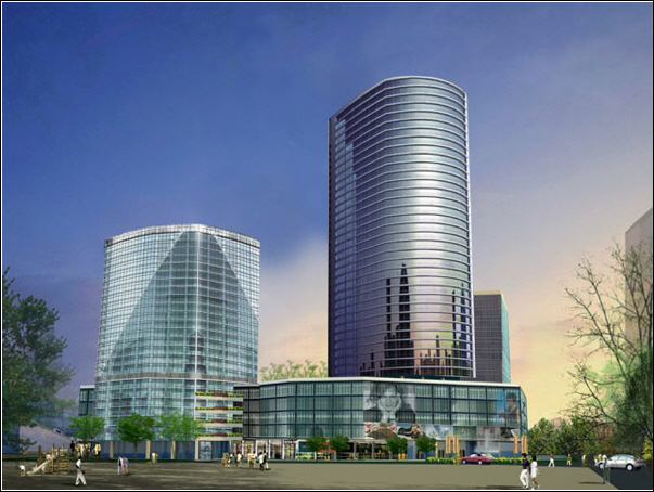 Phối cảnh tổng thểTrung tâm thương mại dịch vụ bất động sản Hạ Đình