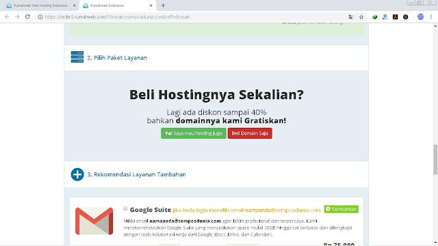 10 Langkah Cara Membeli Domain di Rumahweb