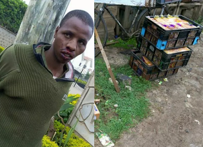 Security guard busted for stealing bread (Photos)