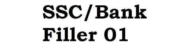 SSC/ Bank Fillar 01