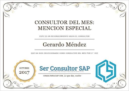 Consultor destacado: Gera_Mendez Consultoria-SAP