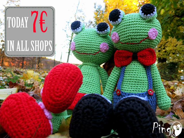 Abby and Robin - crochet frog pattern by Pingo - The Pink Pengiun