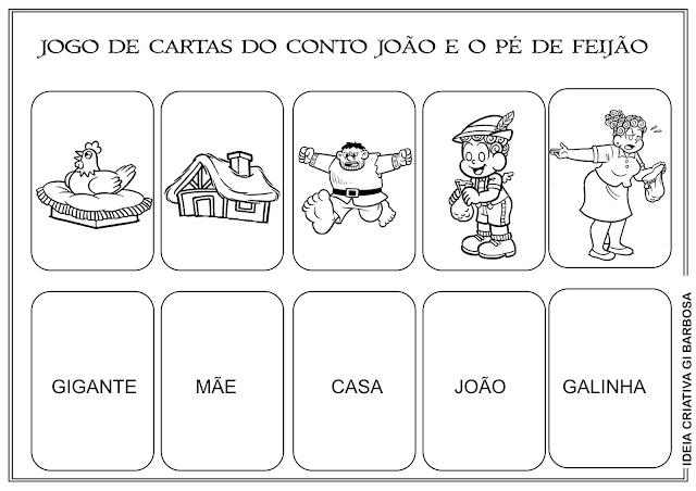 Jogo de Cartas João e o Pé de Feijão GEEMPA