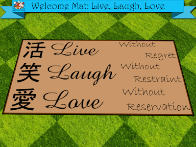 Welcome Mat: Live, Laugh, Love