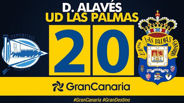 Marcador final Deportivo Alavés 2-0 UD Las Palmas