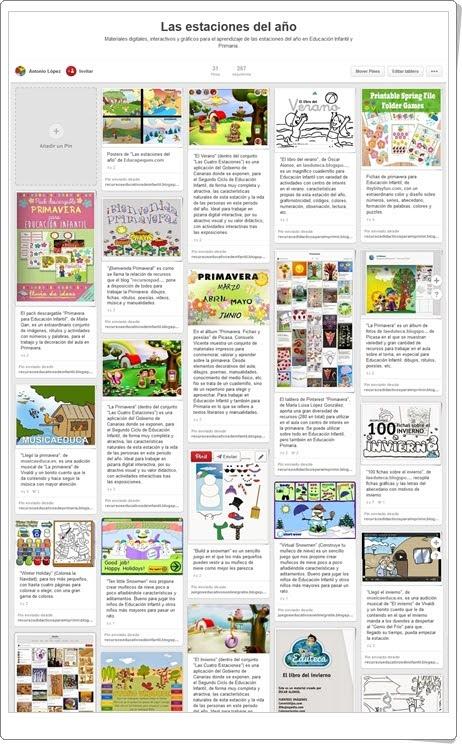 """Conjunto de juegos y actividades sobre """"Las Estaciones del Año"""""""