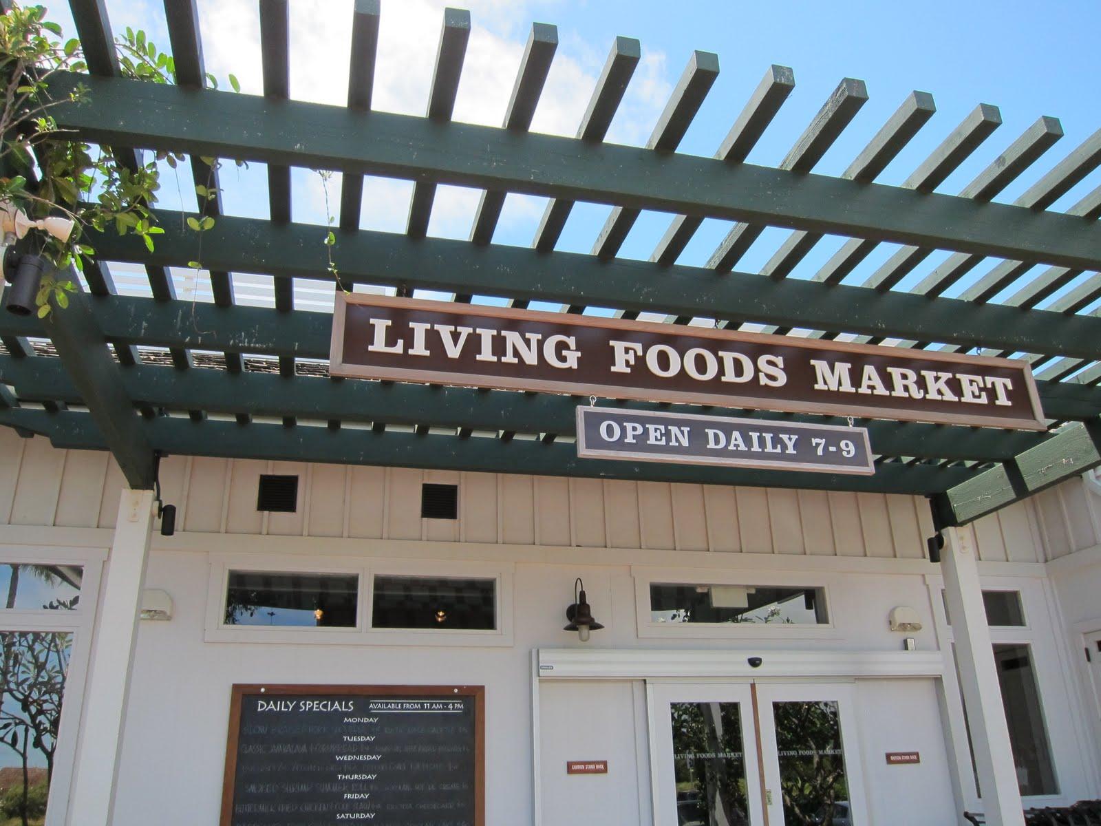 Living Foods Kauai Menu