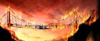queime a ponte que acabou de atravessar, você há de vencer