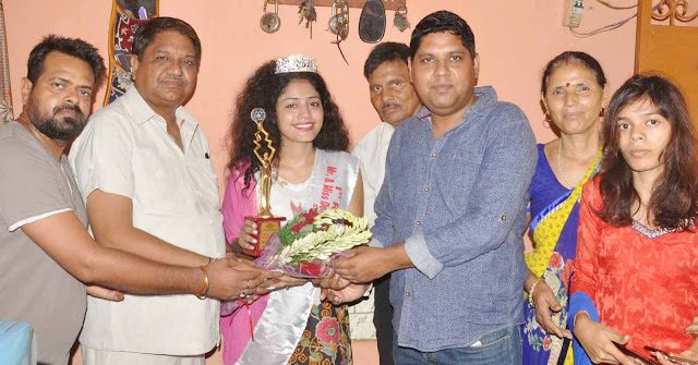 Welcome to Baroda's Faridabad home after winning Miss Delhi title