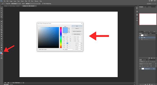 Cara Membuat Gambar Postingan Di Blogger Dengan Mudah - Cara Mengganti Warna Background di Photoshop 1