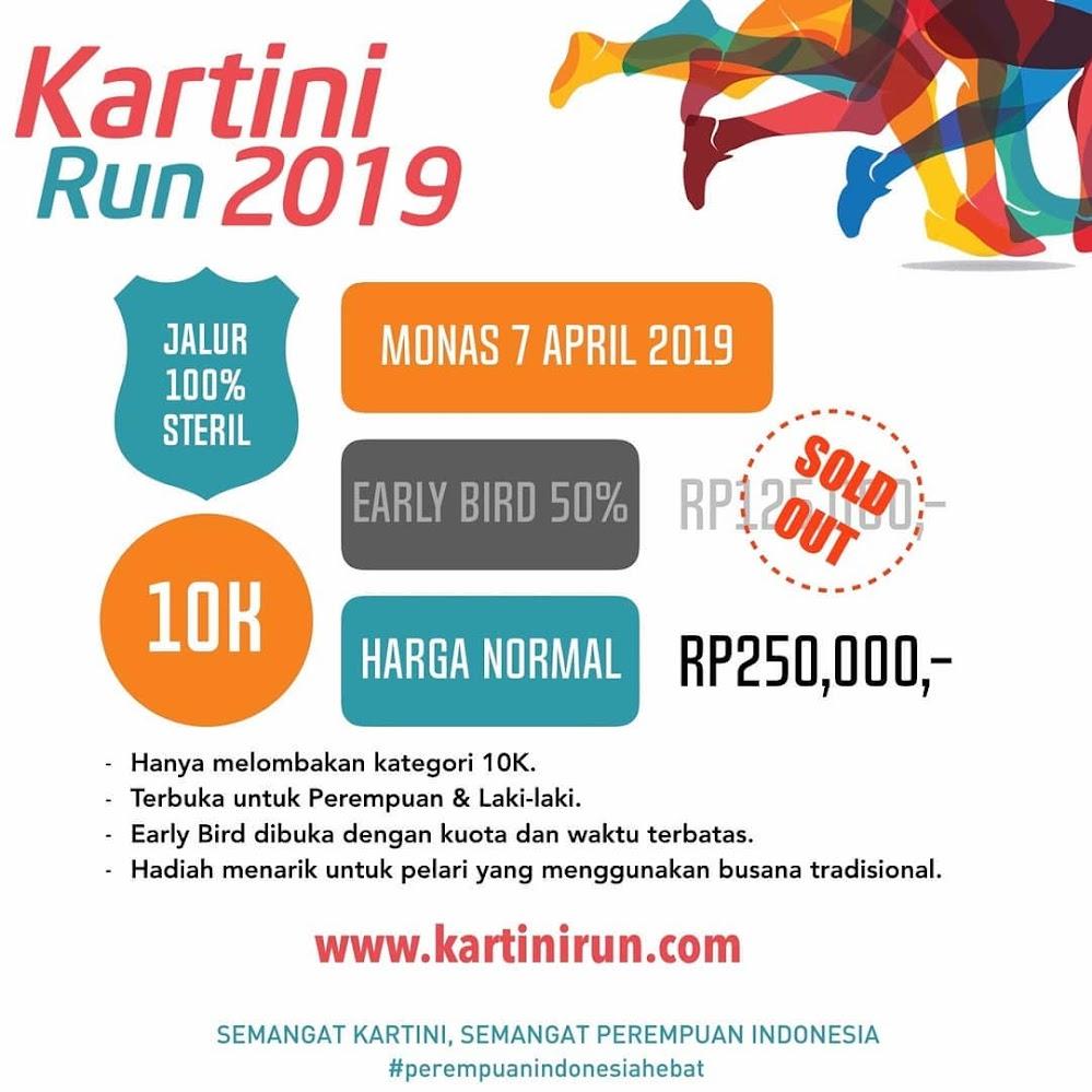 Kartini Run Fee 2019