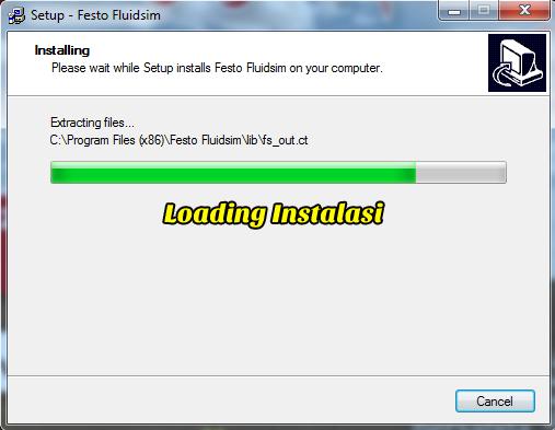 Gambar 9 : Install Festo FluidSIM