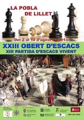 Cartel de la XXIII Edición del Abierto de Ajedrez de La Pobla de Lillet