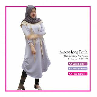 Jual Baju Atasan Wanita Aneesa Long Tunik