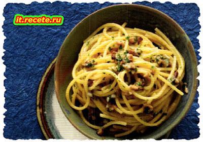 Spaghetti aglio, olio e porcino