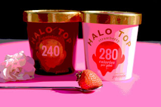 Ice cream, Halo Top, Strawberry, Chocolate, Low calorie ice cream
