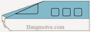 Bước 6: Vẽ cửa sổ để hoàn thành cách xếp xe, tàu điện ngầm bằng giấy origami đơn giản.