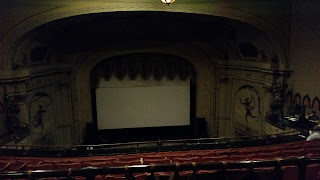 A picture of the Cabot theater from the upper mezzanine level.