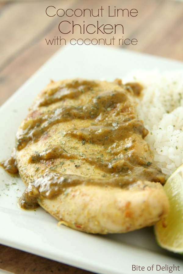 Coconut Lime Chicken with coconut rice