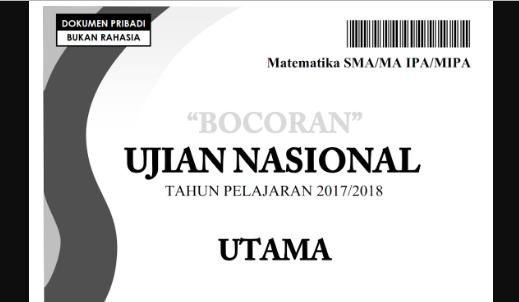 Kumpulan Soal UN SMA/SMU/SMK 2019 (Ujian Nasional Sekolah Menengah Umum)