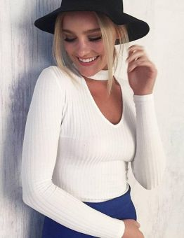 Women's Choker Knitted Autumn Sweater