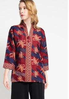 Desain Baju Batik Kerja Terkini