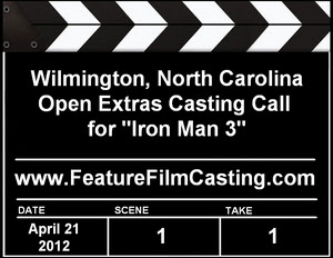 Iron Man 3 Wilmington Open Extras Casting Call