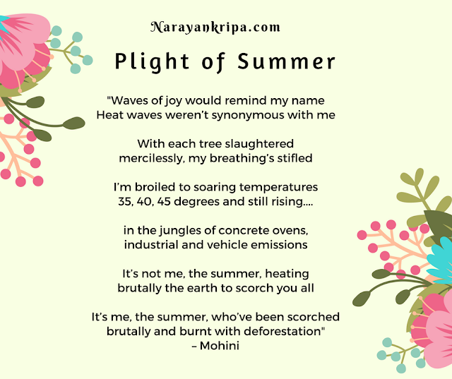 Text Image for April Poetry Month Day 19 Poem: Plight of Summer