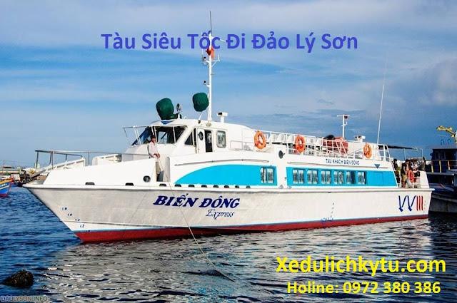 Đặt vé tàu siêu tốc super Biển Đông đi Lý Sơn