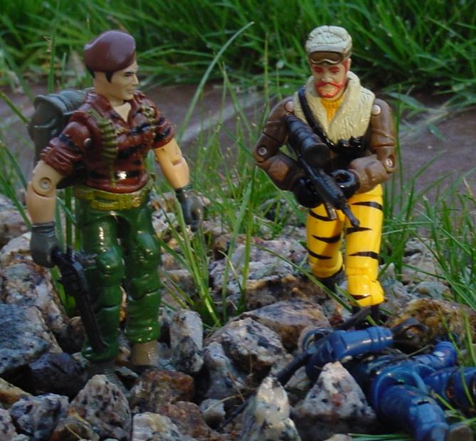 1988 Tiger Force Flint, Frostbite, 2004 Cobra Trooper, TRU Exclusive
