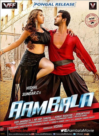 Aambala 2015 UNCUT Dual Audio Hindi Movie Download