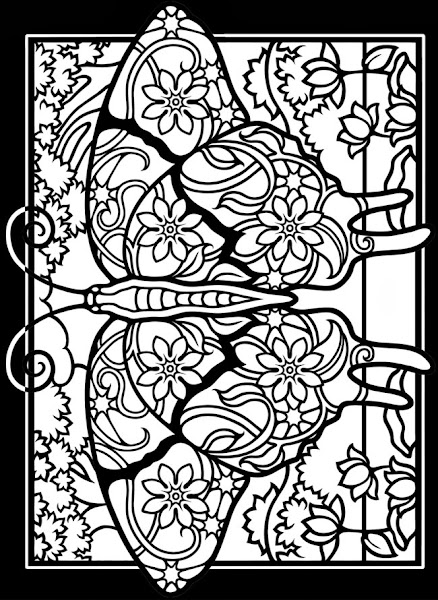 christmas stained glass coloring page - stained glass coloring pages christmas