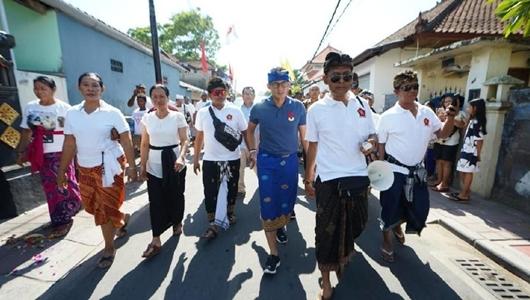 Warga Desa di Tabanan Bali Tolak Sandiaga: Kami Sudah Pilih Jokowi-Amin